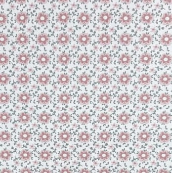 Tricoline Flor Marrom 100% algodão - valor referente a 50 cm x 1,50 cm