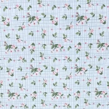 Tricoline Mini Floral Pássaros Lavanda 100% algodão - cada unid. 0,50cm x 1,50m