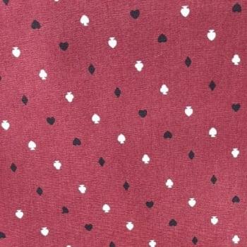 Tricoline Desenho das Cartas 100% algodão - cada unid. 0,50cm x 1,50m