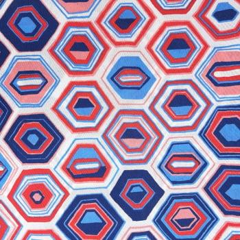 Tecido Impermeável Geométrico Colorido  - valor referente a 50 cm x 1,40 mt
