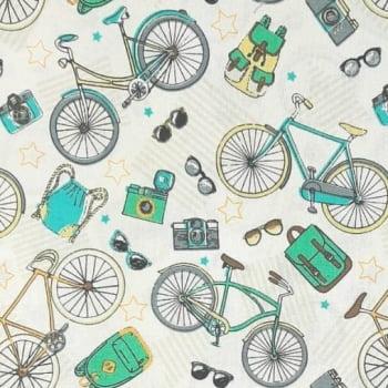 Tricoline Bicicleta 100% algodão - cada unid. 0,50cm x 1,50m
