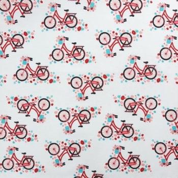 Tricoline Bicicleta MISTA 70% algodão 30% poliéster - valor referente a 50 cm x 1,50 cm