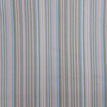 Tricoline Listrado Rosé, Azul e Marrom 100% algodão - valor referente a 50 cm x 1,50 cm