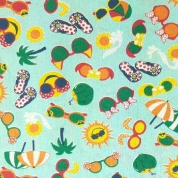 Tricoline Verão com Coco 100% algodão- valor referente a 50 cm x 1,50 mt
