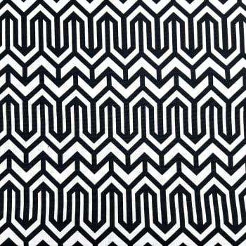 Jacquard Geométrico Preto e Branco cada unid. 50cm x 1,40m
