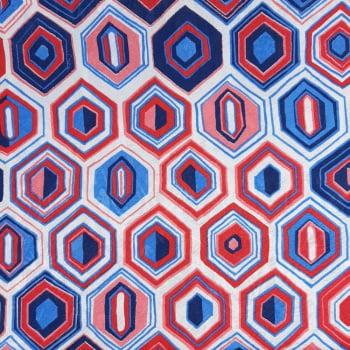 Jacquard Geométrico Colorido - cada unid. 50cm x 1,40mt