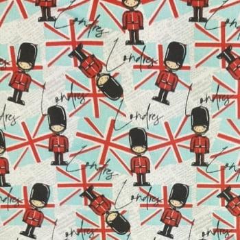 Tricoline Soldados Londres 100% algodão - cada unid. 0,50cm x 1,50m