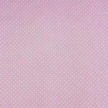 Popeline Poá Pequeno Rosa Bebe 50% Algodão 50% Poliéster   - valor referente a 50 cm x 1,40 cm
