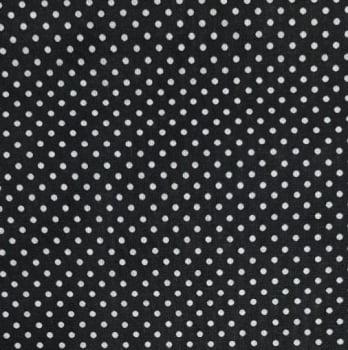 Popeline Poá Pequeno Preto 50% Algodão 50% Poliéster - valor referente a 50 cm x 1,50 cm