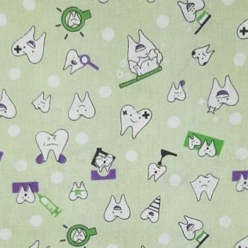 Tricoline Dentinho 100% algodão - cada unid. 0,50cm x 1,50m