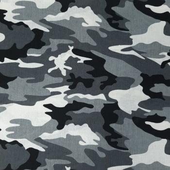 Tricoline Camuflado Cinza  - valor referente a 50 cm x 1,50 mt