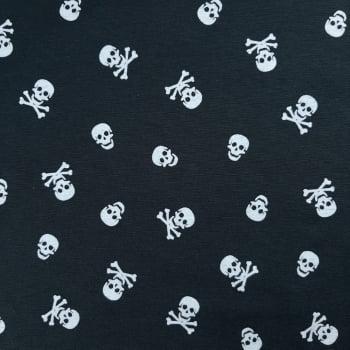 Tricoline Caveira Mista 70% algodão 30% poliéster - valor referente a 50 cm x 1,50 cm