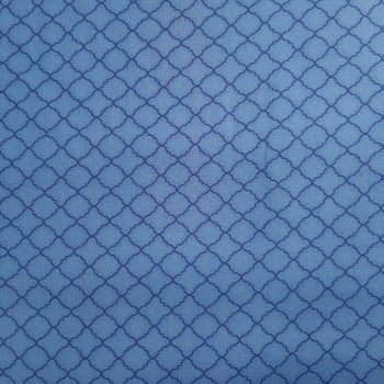 Tricoline Delicato Azul Serenity 100% algodão - valor referente a 50 cm x 1,50 mt