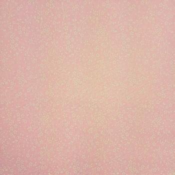 Tricoline Floral Fundo Rosa -100% algodão - valor referente a 50 cm x 1,50 cm