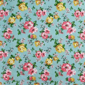 Tricoline Jardim Feliz - 100% algodão - cada unid. 50cm x 1,50m