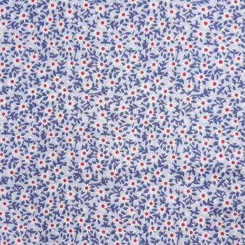 Tricoline Margaridinhas Fundo Lilás - 100% algodão - cada unid. 50cm x 1,50m