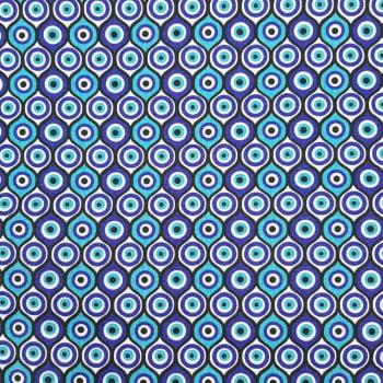 Tricoline Olho Grego Redondo - 100% algodão - valor referente a 50 cm x 1,50 cm