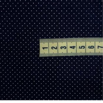 Tricoline Poá Micro Preto  - 100% Algodão - cada unid. 50cm x 1,50mt