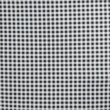 Tricoline Xadrez Preto e Branco 100% algodão - valor referente a 50 cm x 1,50 mt
