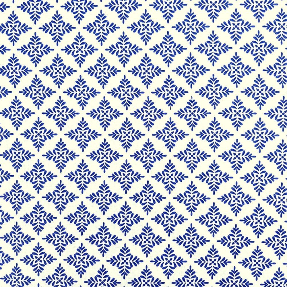 Tricoline Azulejo Azul - 100% algodão - cada unid. 50cm x 1,50m