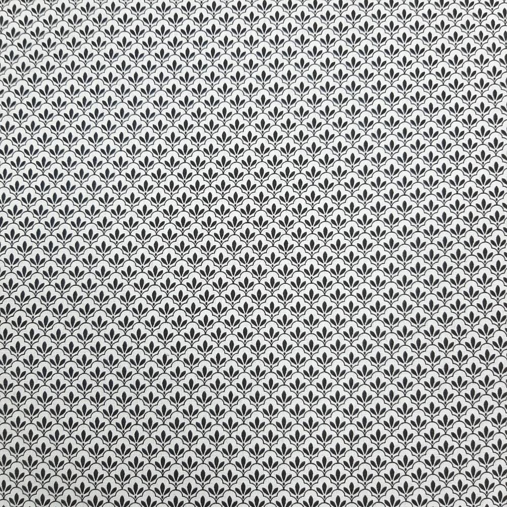 Tricoline Combinação Fundo Branco - 100% algodão - valor referente a 50 cm x 1,50 cm