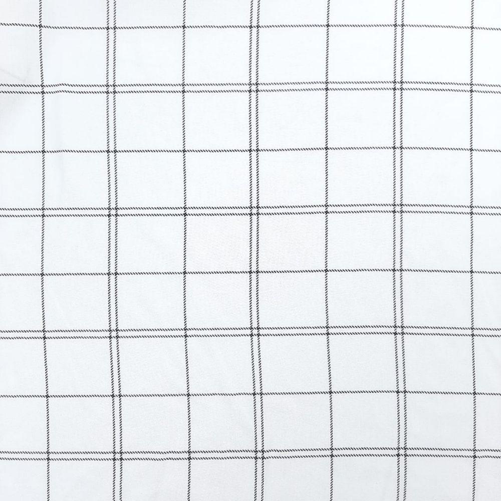 Viscose Xadrez Fundo Branco - 100% Viscose - valor referente a 50 cm x 1,50 cm
